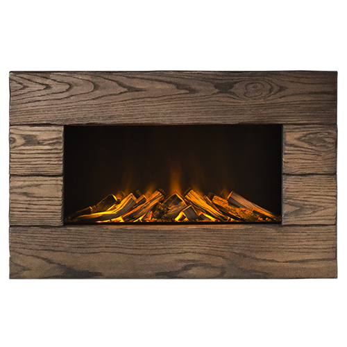 Bergen Electric Fire with Solid Oak Surround