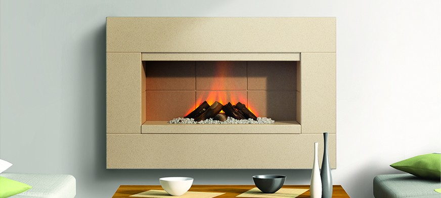 Corian® Ledge Electric Fire