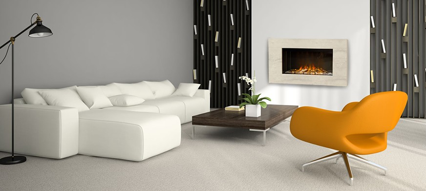 Corian® Maine Electric Fire
