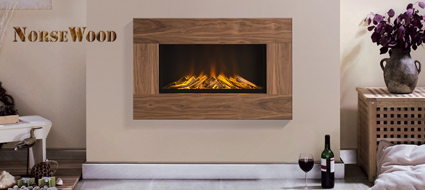 Oslo Electric Fire with Real Wood Veneer