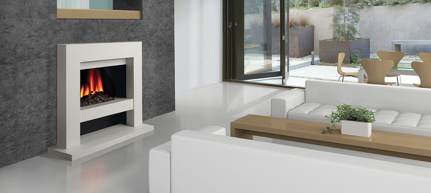 Corian® Slab Electric Fire