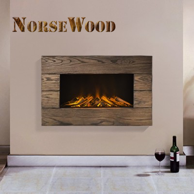 Bergen Solid Oak Electric Fire