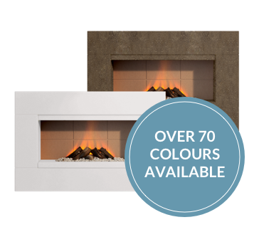 Sleek and stylish hole in the wall electric fires
