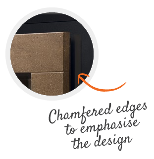chamfered edges
