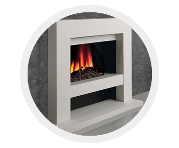 Hearth based electric fire